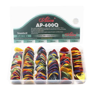 600pcs Acoustic Electric Guitar Abs Antiskid Plectrum Picks Assorted New - coolelectronicstore.com