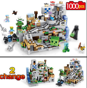 New My World Model Building Blocks Compatible Legoinglys Minecraft the Mountain - coolelectronicstore.com