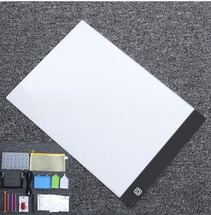 5d Diamond Embroidery Painting Diy Tools Kit Set Aluminium Alloy Led Light Pad - coolelectronicstore.com