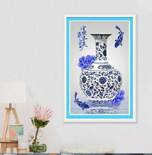 Meian Special Shaped Diamond Embroidery Porcelain Diamond Painting Cross 3d New - coolelectronicstore.com