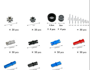 650pcs Blocks Technic Parts Gear Rack Cross Axle Accessory Car Tires Set Truck - coolelectronicstore.com