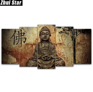 "Zhui Star 5d Diy Full Square Diamond Painting ""Buddha"" Multi-Picture Combination - coolelectronicstore.com"
