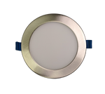 6 Inch Panel Light - Brush Nickel Trim - 3CCT - 15W