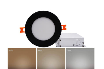 4 Inch Panel Light - Black Trim - 3CCT - 10W