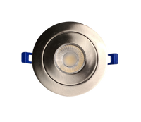4 Inch Brushed Nickel Gimbal Pot Light - 3CCT - 9W