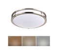 16 Inch Flush Mount Ceiling Light - 3cct - 33W