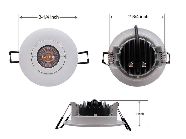 3 Inch Gimbal Pot Light - 7W