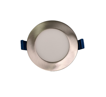 4 Inch Panel Light - Brushed Nickel Trim - 3CCT - 12W