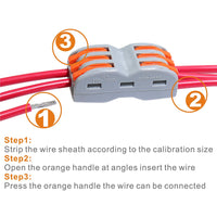 Wire Connector - 3 Way 6 Port