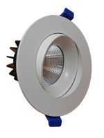 4 Inch White Baffle Gimbal Pot Light  - 5CCT - 12W