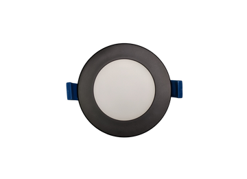 4 Inch Panel Light - Black Trim - 3CCT - 12W