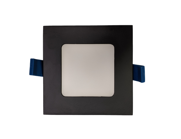 4 Inch Square Panel Light - Black Trim - 3CCT -12W