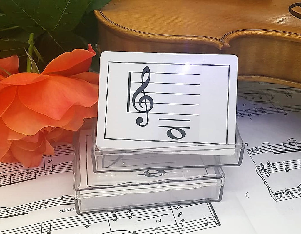 Treble Clef Flash Cards - Suzuki Strings