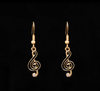 Black and Gold Earring and Necklace Set - Suzuki Strings