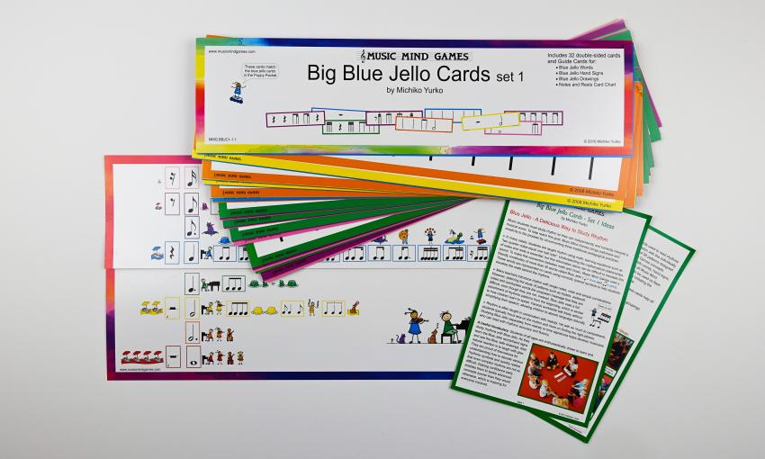 Music Mind Games Blue Jello Cards