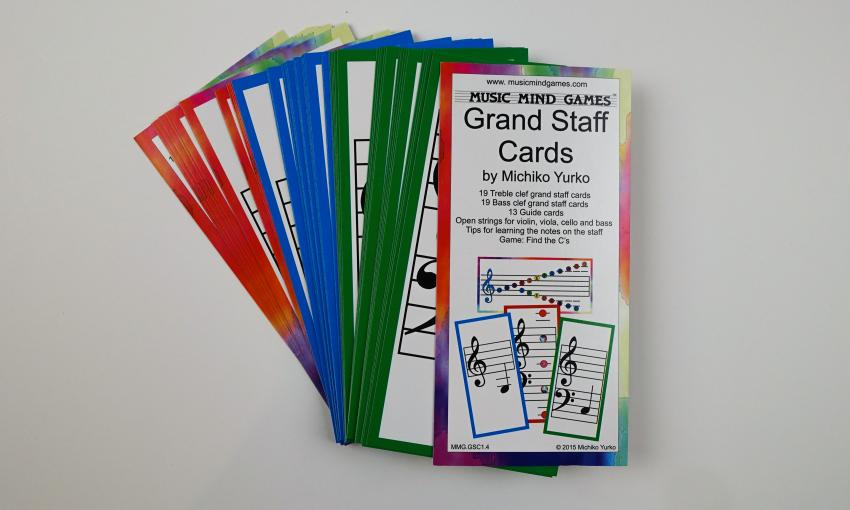 Grand Staff Cards - Suzuki Strings