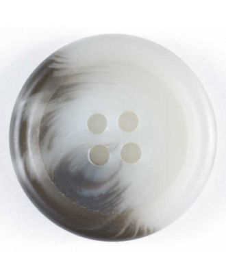 Dill - Matte White Tortoise Shell Button - 15mm