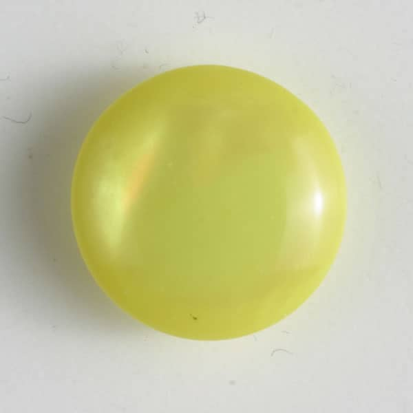 Dill - Pearly Yellow Cap Shank Button - 13mm