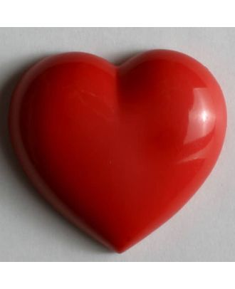 Dill - Plump Red Heart Shank Button - 14mm