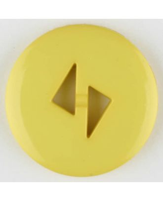 Dill - Triangle Cut-out Yellow Button - 13mm