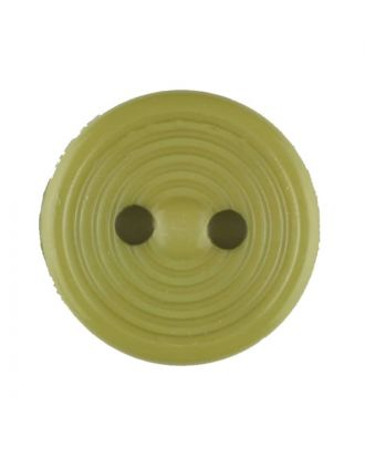 Dill - Grooved Green Button - 13mm