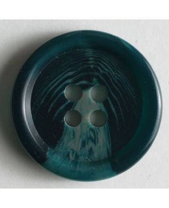 Dill - Semi Gloss Green Tortoise Shell Button - 20mm