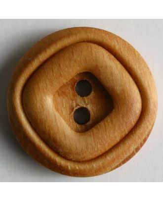 Dill - Square in Round Wood Button - 18mm