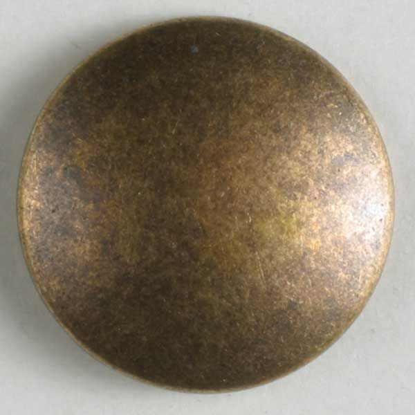 Dill - Full Metal Round Button - Antique Brass - 15mm