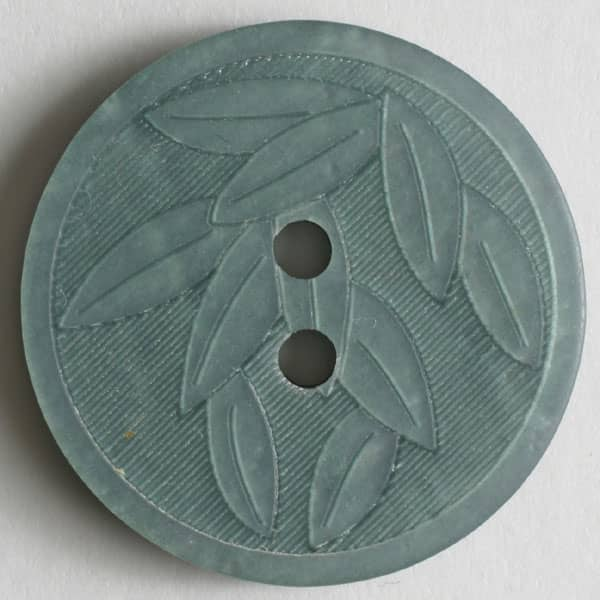 Dill - Iridescent Green Leaf Button - 18mm