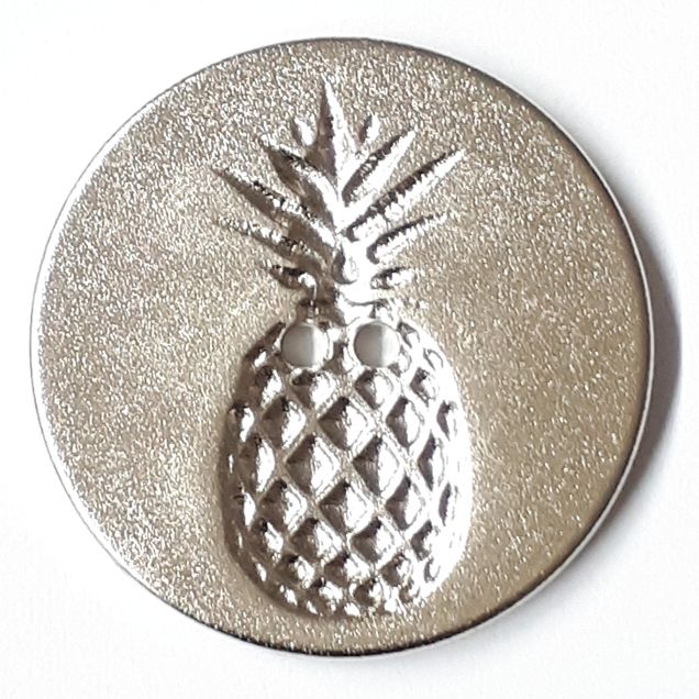 Dill - Silver Pineapple Button - 23mm