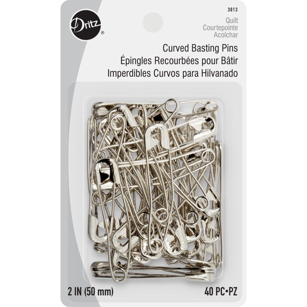 "Dritz - Curved Safety Pins -2"" - 40 pc. - Size 3"
