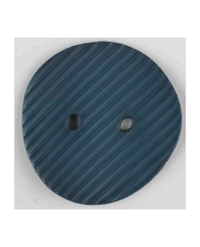 Dill - Dark Teal Grooved Button - 25mm