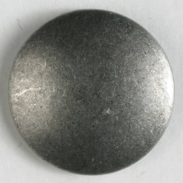 Dill - Round Metal Button - Antique Tin - 23mm