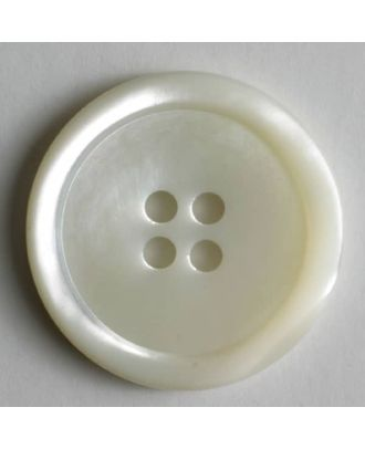 Dill - White Mother of Pearl Button - 14mm