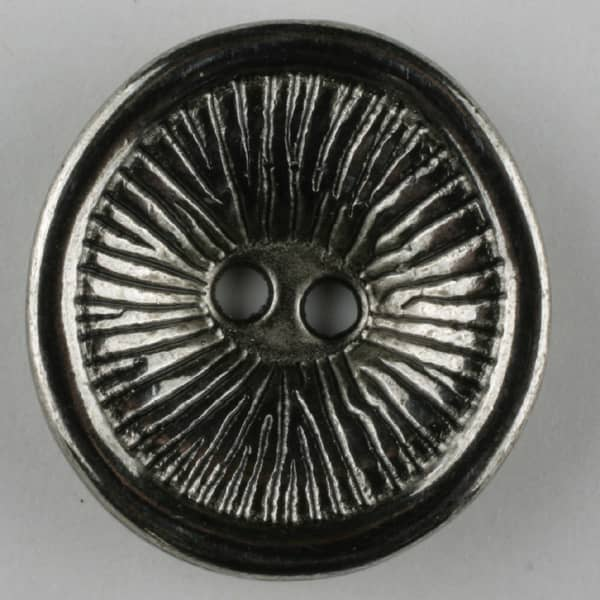 Dill - Silver Grooved Button - 28mm