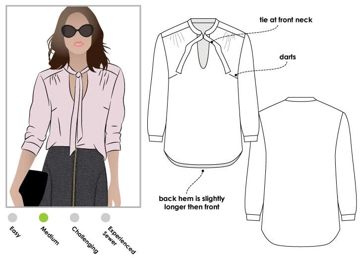 Style Arc - Holly Woven Blouse