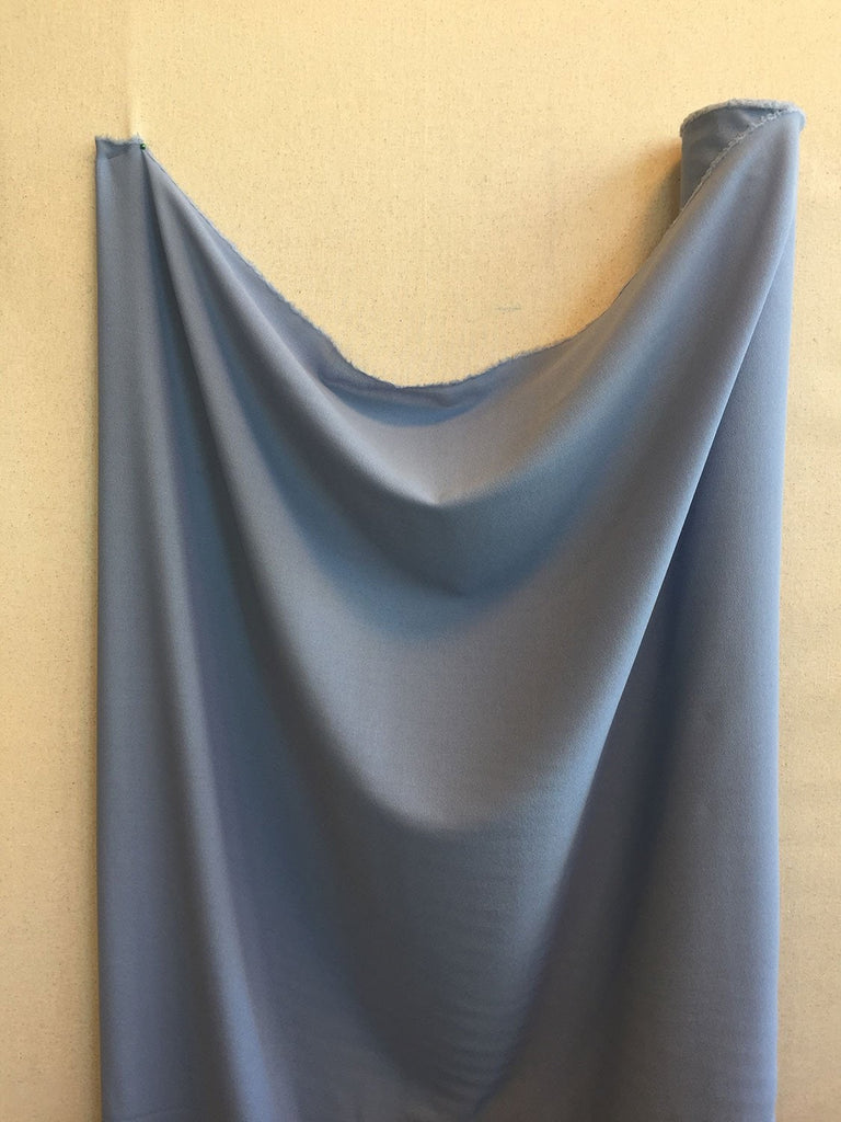 Light Blue Stretch Wool Crepe