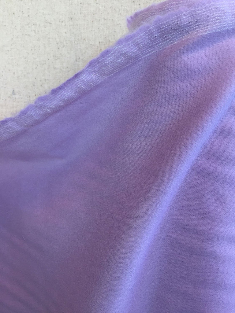 Lilac Stretchy Wool Flannel