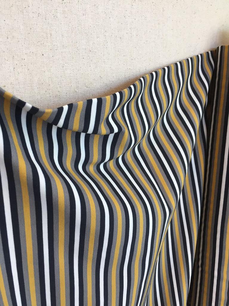 Avalana Knit Jersey - Black Yellow & White Stripes
