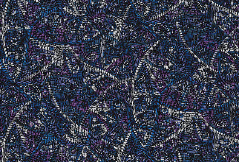 M & S Textiles - Aboriginal - Looking Around - Purple