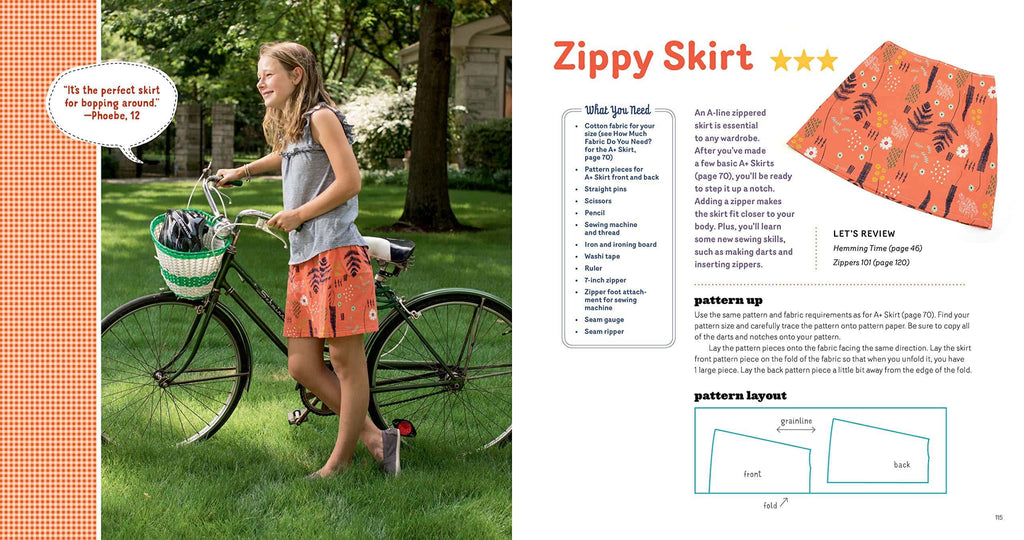 Sewing School ® Fashion Design: Make Your Own Wardrobe with Mix-and-Match Projects Including Tops, Skirts & Shorts - Andria Lisle