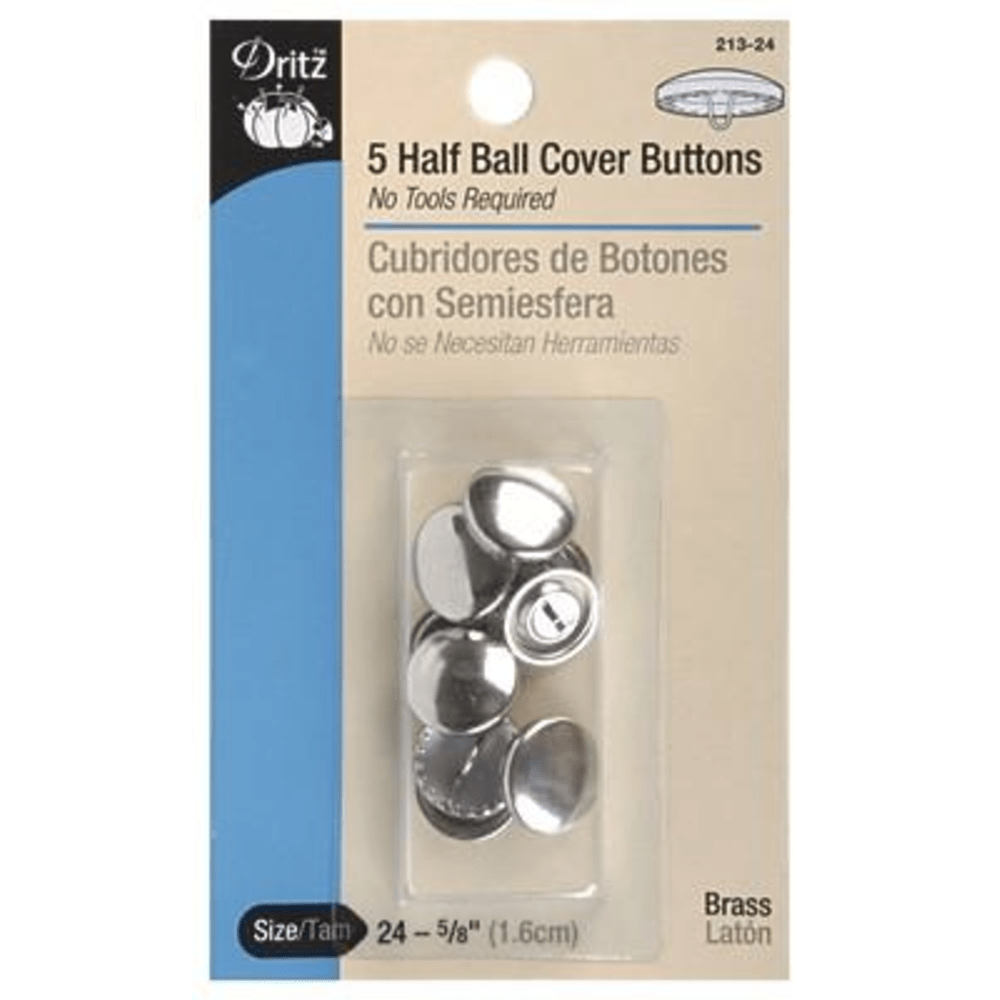 Dritz - Half Ball Cover Buttons - Various