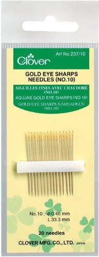 Clover - Gold Eye Sharp - No. 10 - 20 pc.