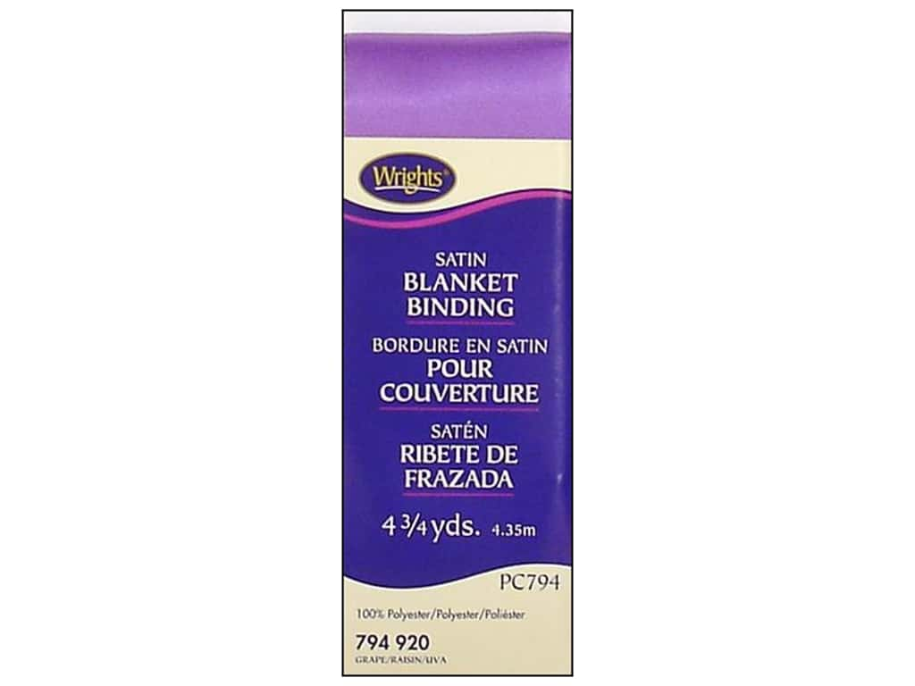 Wrights - Satin Blanket Binding - Various