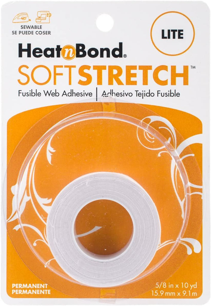 "HeatnBond - Soft Stretch Lite - Iron-On Adhesive - 5/8"" x 10 yards"