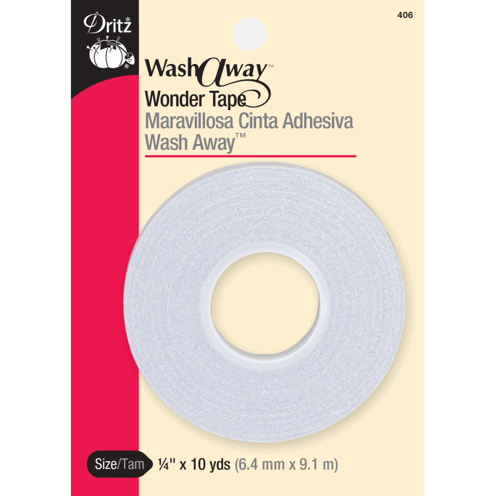 "Dritz - Wash-A-Way Wonder Tape - 1/4"" x 10 yds."