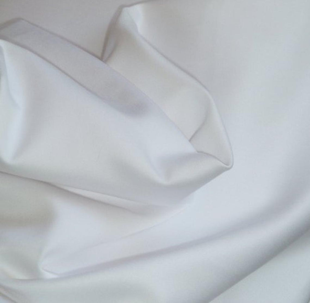 Pima Cotton Batiste - White - 58""