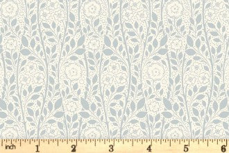 Riley Blake and Liberty Fabrics - The Emporium Collection - Merton Rose - Gray