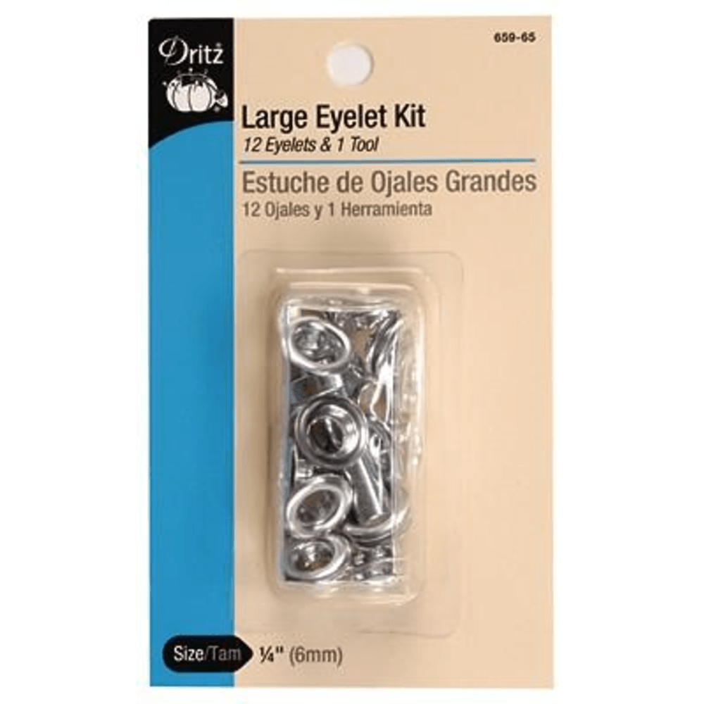 Dritz - Large Eyelet and Tool Kit - 12 pc.