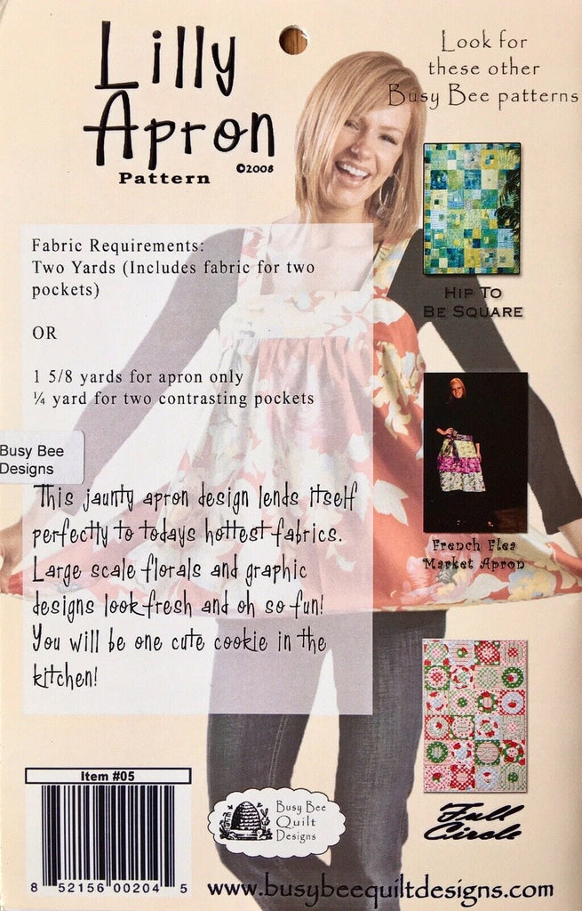 Busy Bee Quilt Design - Lilly Apron Pattern